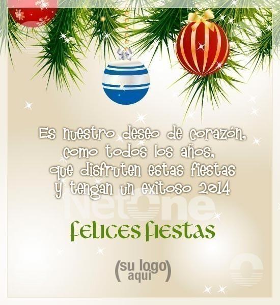 Salutación de Fin de Año - Tarjetas Navideñas y Feliz 2014!